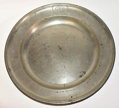 """Antique 18th Century 1791 Pewter Plate Block Germany 31.5 cm 12.5"""""""