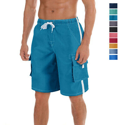 Men's Casual Cargo Watershort Fast Dry Board Shorts Swim Suit Beach Swim Trunks