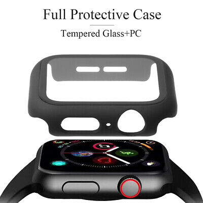 Tempered Glass Screen Protector Protective Case For Apple Watch Series 4/3/2/1
