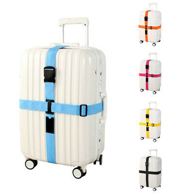 Long Cross Luggage Straps with Adjustable Cross Suitcase Belt Travel Bag St C7Z7