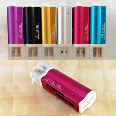 USB 2.0 All in One Memory Card Reader For MICRO-SD SD TF SDHC M2 MMC 5 colors US