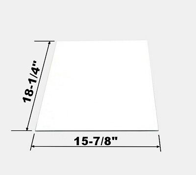 Replacement Rear Glass Panel For Large 8 oz Great Northern Popcorn Machine