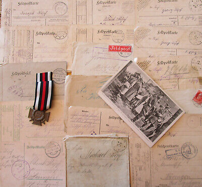 Original  WW I  Time  Germany Soldiers  Hindenburgorder with ribbon+ Fieldpost