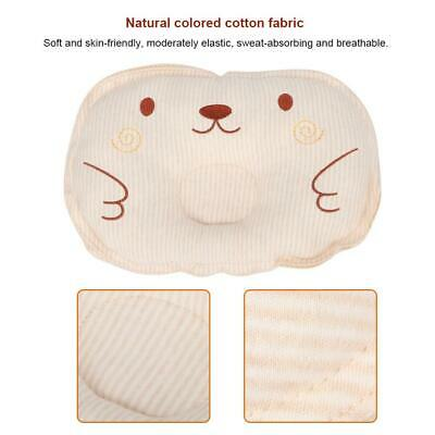 Infant Cotton Brown Pillow Baby Groove Prevent Flat Head Cot Newborn Sleeping