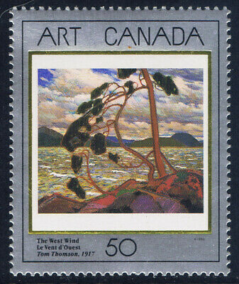 Canada #1274(1) 1990 50 cent CDN MASTERPIECES - THE WEST WIND by T.J.THOMSON MNH