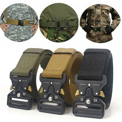 Adjustable Military Tactical Belt Men's Army Combat Waistband Rescue Rigger Belt