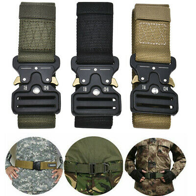 Men's Adjustable Military Tactical Belt Army Combat Waistband Rescue Rigger Belt