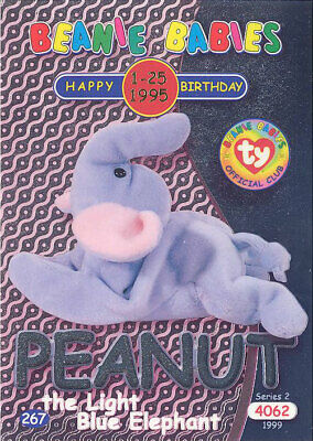 Ty S2  Beanie Card-Happy Birthday JABBER PARROT GREEN