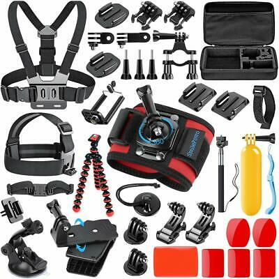 SmilePowo 42-in-1 Accessorries Kit for GoPro Hero 7 6 5 4 3/3+ 2 1 with Case