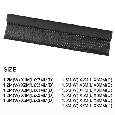 Black Heavy Duty Anti-Slip Rubber Matting Gym  Flooring Sheeting Matting Roll UK