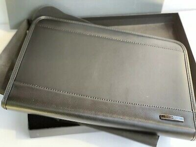 Samsonite Parker Black Leather Padfolio - Portfolio - Zip Closure - New in Box