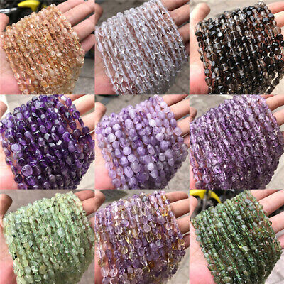 Natural Amethyst Loose Beads Diy Jewelry Making Accessories Handmade Charm