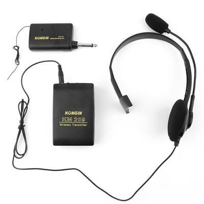 Stage Wireless Lavalier Lapel Headset Microphone System Mic FM Transmitter AE