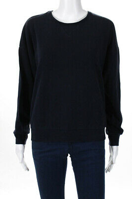 Petit Bateau Womens Long Sleeve Crew Neck Sweatshirt Pullover Navy Blue Size S