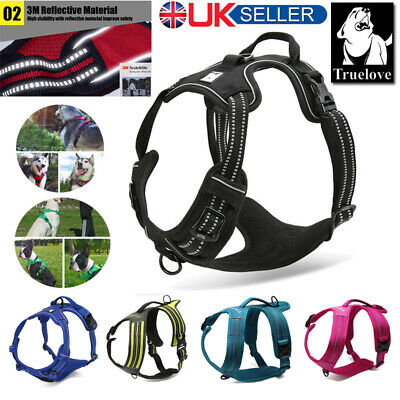 Truelove Dog Harness No-Pull Strong Adjustable XS S M L XL 3M Reflective Padded