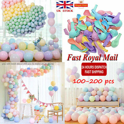100/200pcs Macaron Candy Colored Party Balloons Pastel Latex Balloons 10 Inch UK
