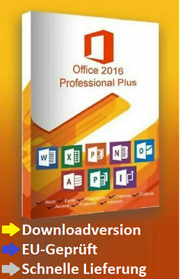 Microsoft Office 2016 Professional Plus x64 64Bit Deutsch Englisch Italiano