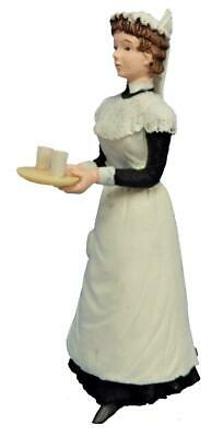 Dolls House Victorian Maid with Drinks on Tray Resin People 1:12 Figure