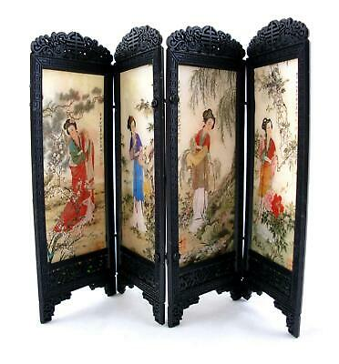 Dolls House Ladies Design Chinese Boudoir Dressing Screen Miniature Furniture