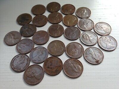 Half pence 1/2p New Penny 1971 collectable coins; 48th Birthday/Anniversary gift