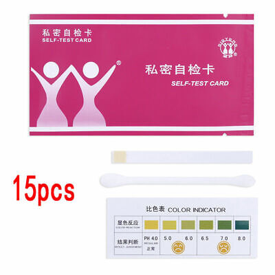 15x Urine Tract Vaginal Vaginosis/Bacterial/Thrush PH Test Strips Kits#swt#s AU