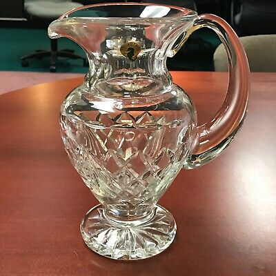 "Waterford Crystal Footed Pitcher Signed 8-3/4"" Tall"