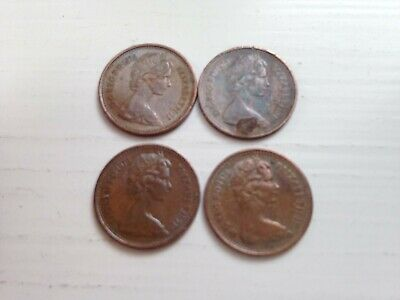 Half Pence 1/2p New Penny 1975 collectable coins; 44th Birthday/Anniversary gift