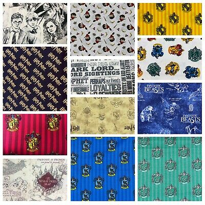 Harry potter fabric, material, 100% cotton, Hogwarts, Marauders map, Gryffindor,