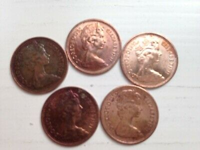 Half Pence 1/2p New Penny 1982 collectable coins; 37th Birthday/Anniversary gift