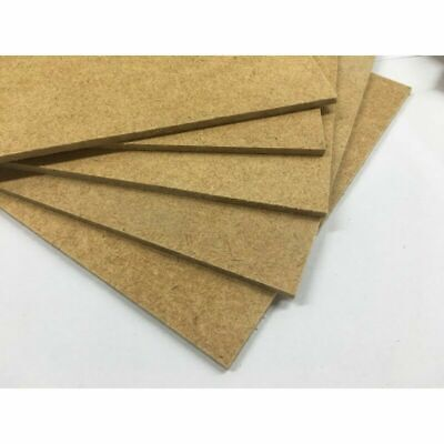 """3mm HARDBOARD FOR CRAFT, PICTURE FRAMES ETC, 1000s OF USES  4"""" TO 24"""" SQUARE"""