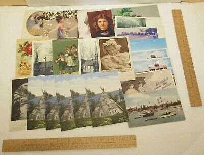 87 POST CARDS / POSTCARDS - Mixed Lot - VINTAGE - MODERN - POSTED - UNPOSTED