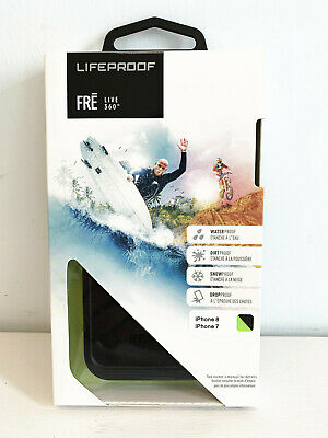 LifeProof Fre Series WaterProof Case Cover For iPhone 8 iPhone 7 Black Green