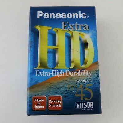 1X Panasonic Extra Hd Ec-45 High Grade Vhs-C Video Camcorder Tape Cassette NEW
