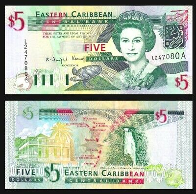 P44a Antigua State Queen 2003 UNC Eastern East Caribbean 20 Dollars