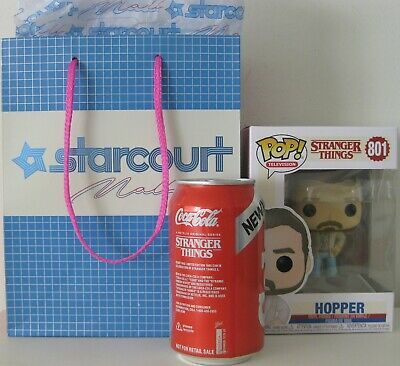 Stranger Things 3 Netflix Promo Starcourt Mall Bag New Coke Can Funko Hopper 801