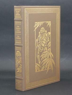 FRANKLIN LIBRARY SIGNED 1st ED. THE THINGS THEY CARRIED, TIM OBRIEN LEATHER BOOK