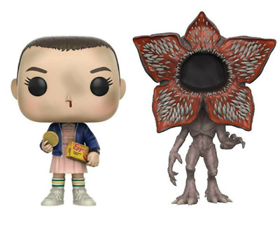 Stranger Things Eleven & Demogorgon Funko Pop Vinyl Figure DISCOUNTED PAIR SALE!