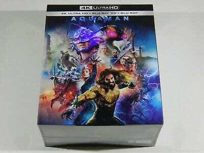 Aquaman Blu-ray Steelbooks 4K UHD+3D+2D One Click Manta Lab OOS/OOP #219/500