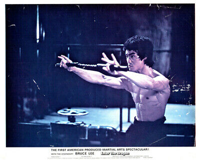 Enter The Dragon Original Lobby Card Bruce Lee classic fight image Nunchucks