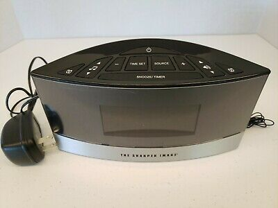 The Sharper Image EC-B150 Sound Soother White Noise Machine Dual Alarm Clock