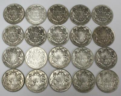 20x Canada semi key 50 cents silver coins 1937 1938 1939 1947S7 1947C7 see list