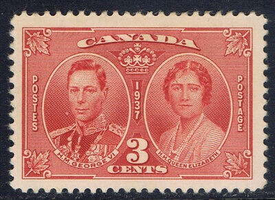 Canada #237(1) 1937 3 cent KING GEORGE VI & QUEEN ELIZABETH MH