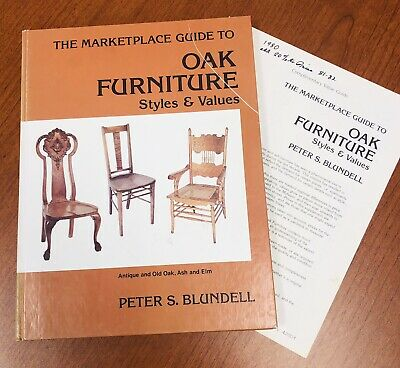 PETER BLUNDEL~THE MARKETPLACE GUIDE TO OAK FURNITURE~ Plus Pricing Brochure