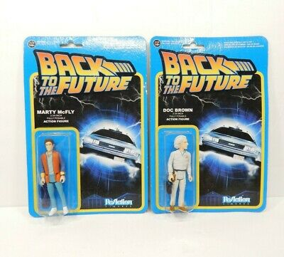 MARTY MCFLY Funko Back to The Future ReAction Figure Michael J. Fox & Doc Brown