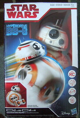NEW Star Wars Hyperdrive BB-8 The Last Jedi Remote Control Robot misb sealed toy
