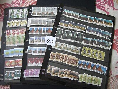 BULK LOT OF 3 PAGES of USED AUST. STAMPS. LOT 42.  ALL OFF PAPER. BARGAIN BUY.