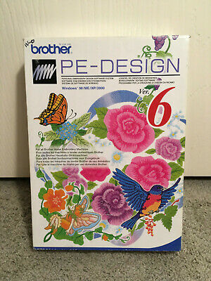 Brother PE Design Version 6 Personal Embroidery Design Software System