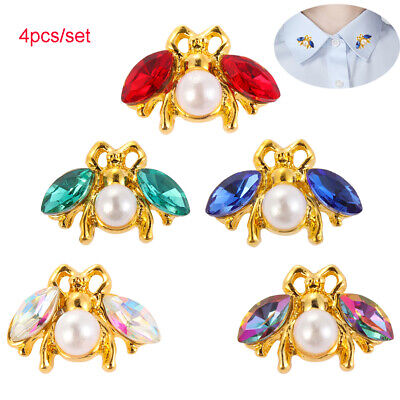 DIY Bow Accessories Scrapbooking sew on beads Sewing button Rhinestone Bee