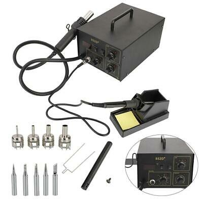 852D+ 2in1 New SMD Soldering Iron Hot Air Rework Station Hot Air Gun 700W 110V