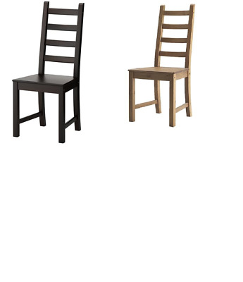 *New* KAUSTBY Chair Antique Stain & Brown Black  *Brand IKEA*